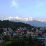 The view from our balcony in Pokhara - not a single crazed machete murderer in sight