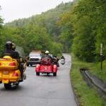 Bikers and roadworks