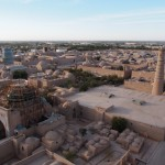 Khiva as seen from the top of the minaret. Living museum maybe, but hey who cares?