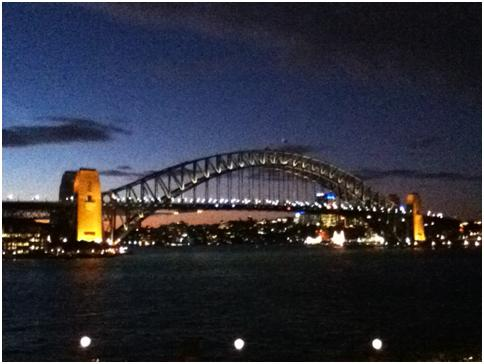 20 minutes in – Sydney Harbour Bridge, from the Sydney Opera House