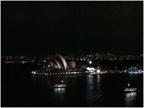 40 minutes in – Sydney Opera House, from Sydney Harbour Bridge