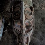 The head of a tribal garamut drum. Garamut, unfortunately, is also the name of the regional cash n'carry