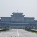 Mausoleum, unfortunately closed as they prepare Kim Jong Il. Aaaaww.