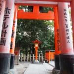 Orange torii. Behind me are about 10,000 more orange torii.....