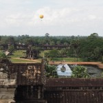 This is the view from Angkor Wat's central keep - it's quite big......