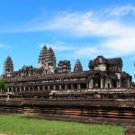 Sneaky scaffolding-free side view of Angkor. Yeah!