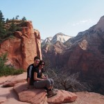 Zion. Post Angels Landing, calmed down just enough to forgive James. Nearly. Views helped!