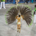 The ultimate drum queen. All feathers and bottom