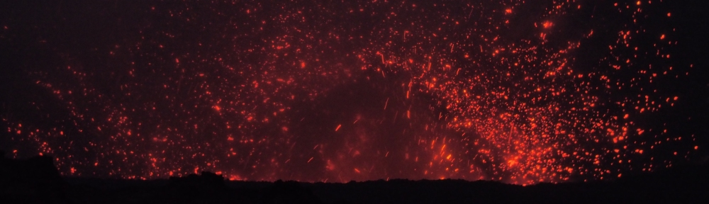 It may not look like it, but this volcano picture was taken from a VERY long way away