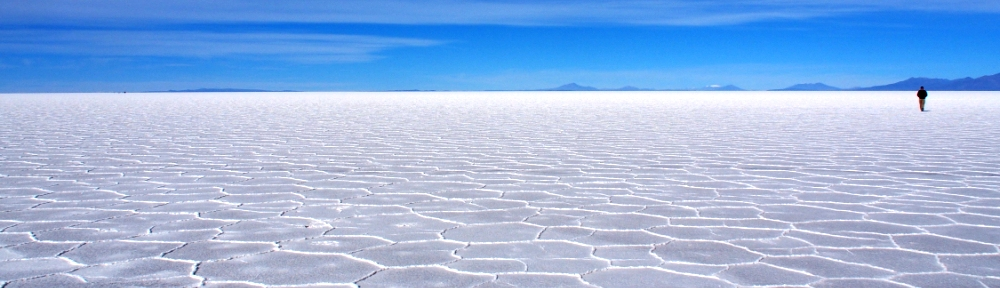 Uyuni salt flats background